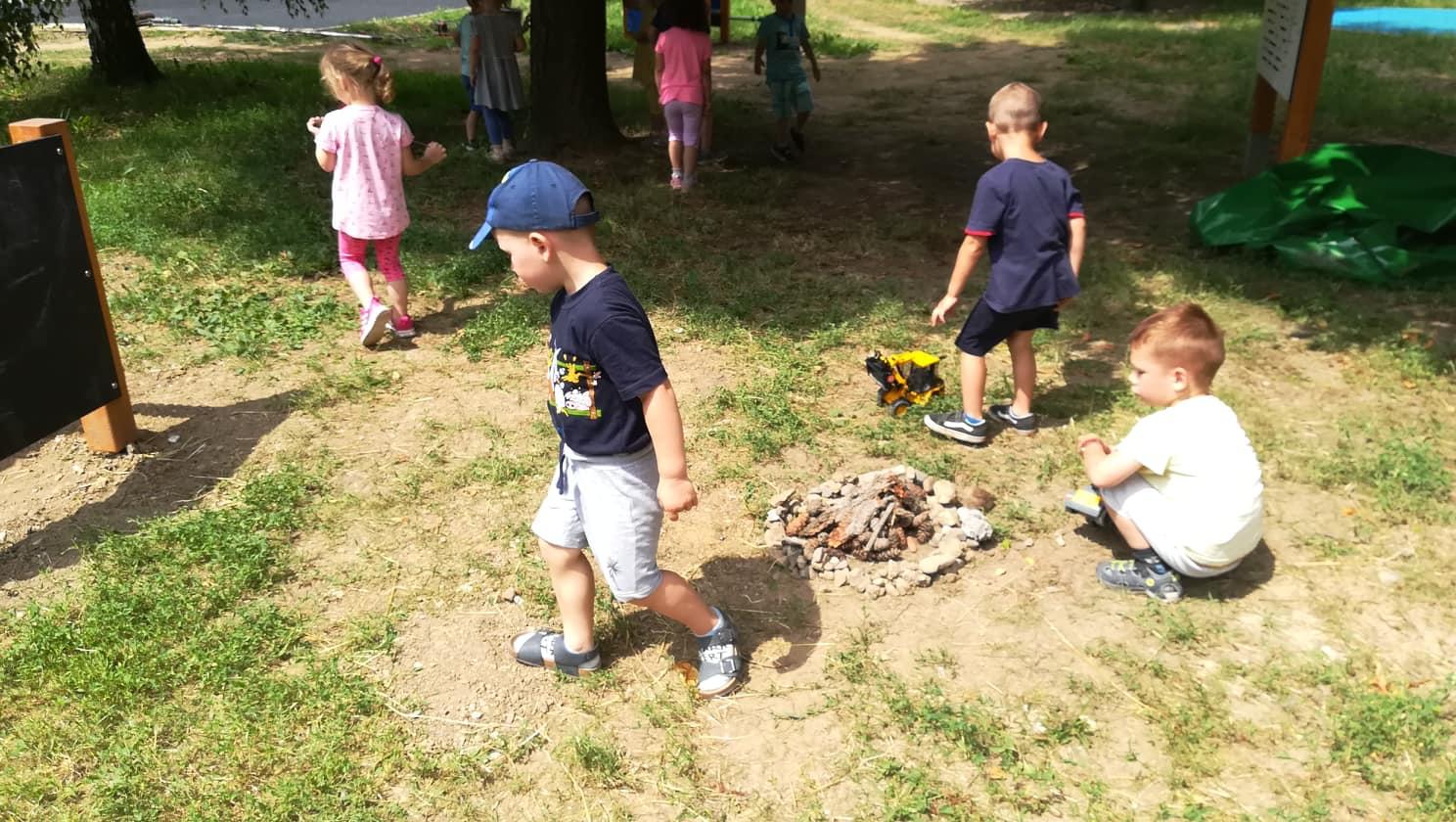 Hráme sa vonku- zbierame šišky, kamienky, halúzky