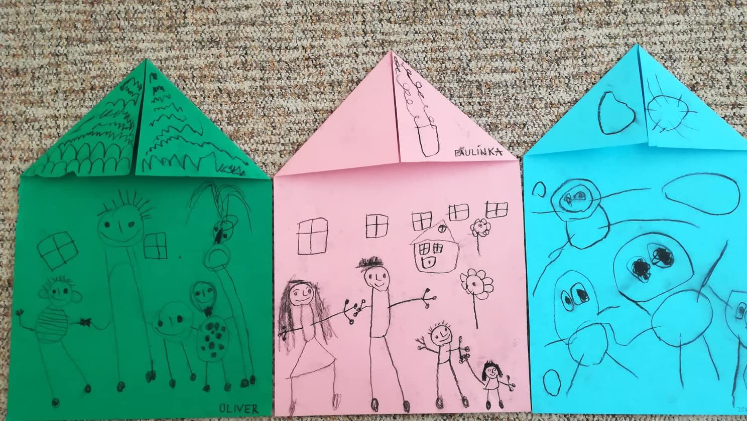 Moja rodina- ocko, mamka, brat... všetkých ich mám rád/kreslíme
